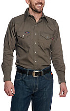 Lapco Grey Flame Resistant Workshirt IGR7WS