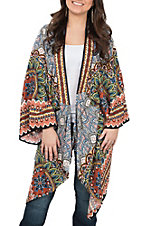 Flying Tomato Women's Multi Pattern Kimono