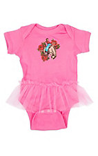Rodeo Quincy Infant Girls Ride Em Ronta Pink Tutu Onesie