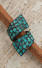 Amber's Allie Turquoise Patina Wrap Ring