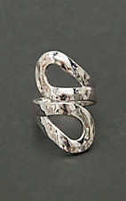 Amber's Allie Silver Hammered Loop Wrap Ring