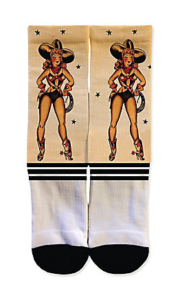 Icon Socks Cartoon Cowgirl Socks