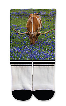 Icon Socks Bluebonnet Longhorn Socks