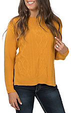 Flying Tomato Women's Mustard Knit Sweater