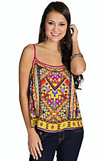 Flying Tomato Women's Multicolor Mixed Tribal Print Camisole