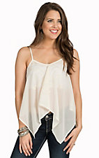 Flying Tomato Women's Ivory Sheer Top