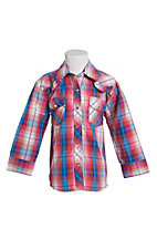 Cowgirl Legend Toddler Girls Multi Plaid Print Ruffle Long Sleeve Western Shirt