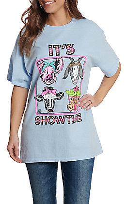 Girlie Girl Originals Women's Light Blue It's Show Time T-Shirt