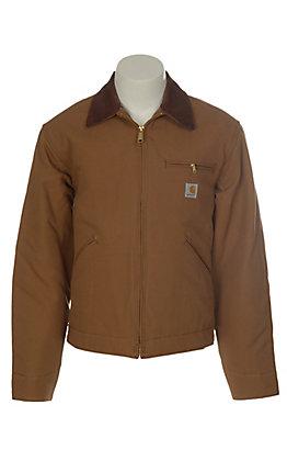 Carhartt Brown Blanket Lined Duck Detroit Jacket