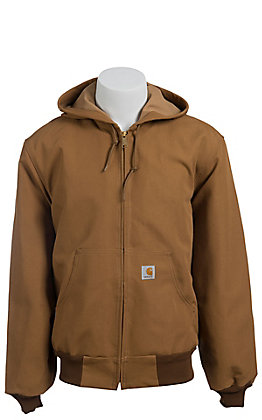 Carhartt Brown Duck Thermal Lined Active Jacket - Big & Tall