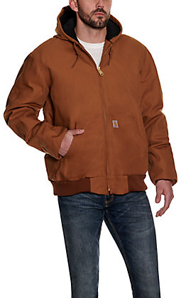 Carhartt Brown Duck Quilted Flannel Lined Active Jacket