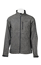 Cinch Men's Grey Grid with Black Accents Long Sleeve Bonded Jacket