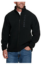 Cinch Men's Black with Grey Logos Bonded Jacket