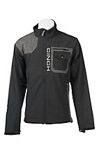 Cinch Men's Black with Grey Grid Accents Long Sleeve Bonded Jacket