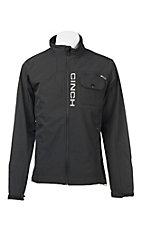Cinch Men's Black with Silver Accents Long Sleeve Bonded Jacket