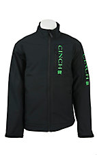 Cinch Men's Black with Green Logos Concealed Carry Pocket Bonded Jacket
