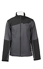 Cinch Men's Grey with Black Accents Long Sleeve Bonded Jacket