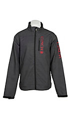 Cinch Men's Grey Space Dye Bonded w/ Red Logo Cavender's Exclusive Jacket
