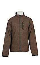 Cinch Men's Brown Grid Print Bonded w/ Black Logo Cavender's Exclusive Jacket