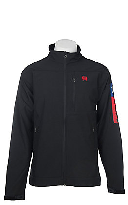 Cinch Cavender's Exclusive Men's Black Bonded with Texas Flag Embroidered Jacket