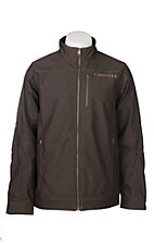 Cinch Men's Solid Brown Bonded with Gold Logo Jacket