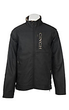 Cinch Men's Black Bonded with Gold Logo Jacket