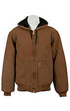 Carhartt Carhartt Brown Quilted Flannel Lined Sandstone Active Jacket