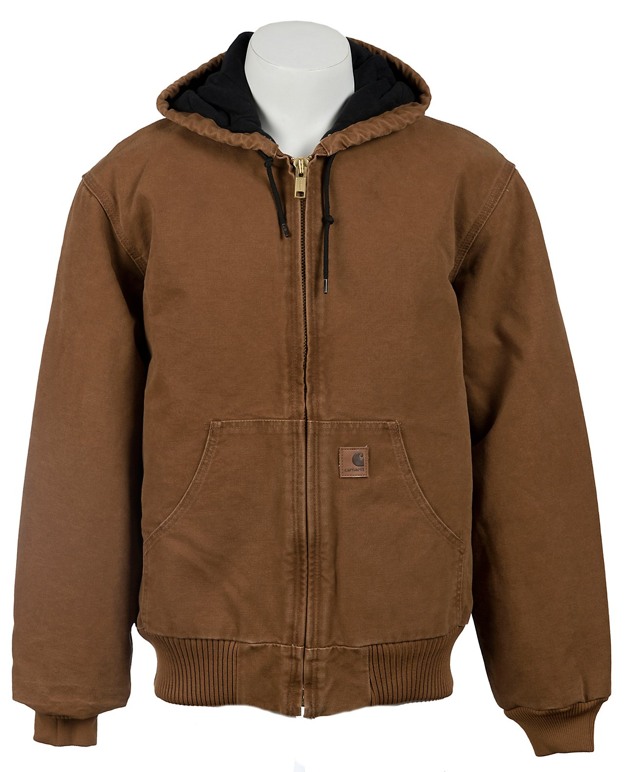 04583b94776e4 Carhartt Carhartt Brown Quilted Flannel Lined Sandstone Active Jacket