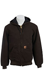 Carhartt Dark Brown Quilted Flannel Lined Sandstone Active Jacket