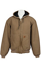 Carhartt Sandstone Tan Quilted Flannel Lined Sandstone Active Jacket
