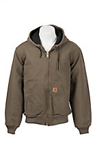 Carhartt Light Brown Quilted Flannel Lined Active Jacket