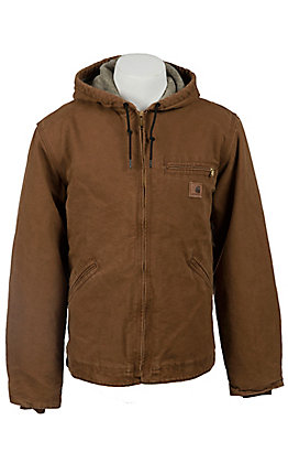 Carhartt Carhartt Brown Sherpa Lined Sandstone Sierra Jacket