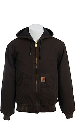 Carhartt Dark Brown Sherpa Lined Sandstone Sierra Jacket