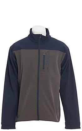 Cinch Men's Charcoal & Navy Color Block Bonded Jacket