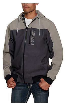 Cinch Men's Grey Bonded Hooded Jacket