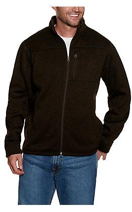 Cinch Men's Heather Brown Sweater Jacket