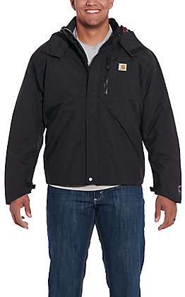 Carhartt Men's Black Shoreline Waterproof Jacket - Big & Tall