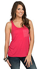 Panhandle Women's Hot Pink Loose Fit Tank Top