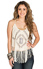 Panhandle Women's Natural Swing Camisole with Fringe
