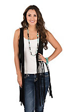 Panhandle Women's Black Fringe Vest