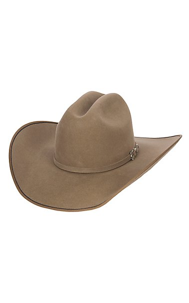 Justin 7X Pecan Hooked with Two Tone Edge Felt Cowboy Hat  86fe3470feb