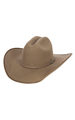 Justin 7X Pecan Hooked with Two Tone Edge Felt Cowboy Hat