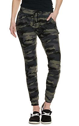 Suzette Women's Olive Camo Jogger Pants