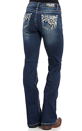 Grace in L.A. Women's Dream Catcher Boot Cut Jeans