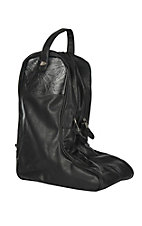 Justin Black Leather Boot Bag