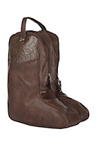 Justin Brown Leather Boot Bag