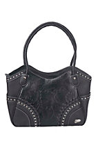 Justin Women's Black Floral Embossed Concealed Carry Purse
