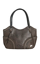Justin Women's Brown Floral Embossed Concealed Carry Purse