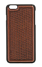 Justin Cognac Basket Weave Iphone 6 Shell Case