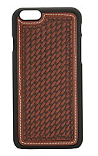 Justin Cognac Basket Weave Iphone 6 Plus Shell Case